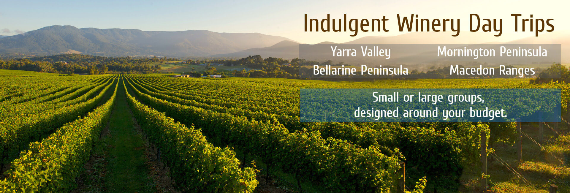 Melbourne Private Tours Winery Trips