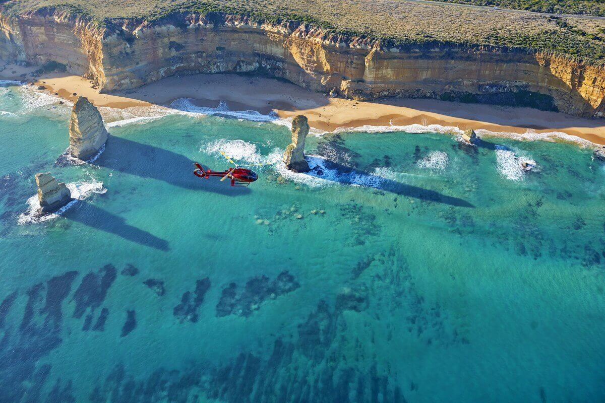 Melbourne Private Tours Amazing views of the Great Ocean Road from helicopter