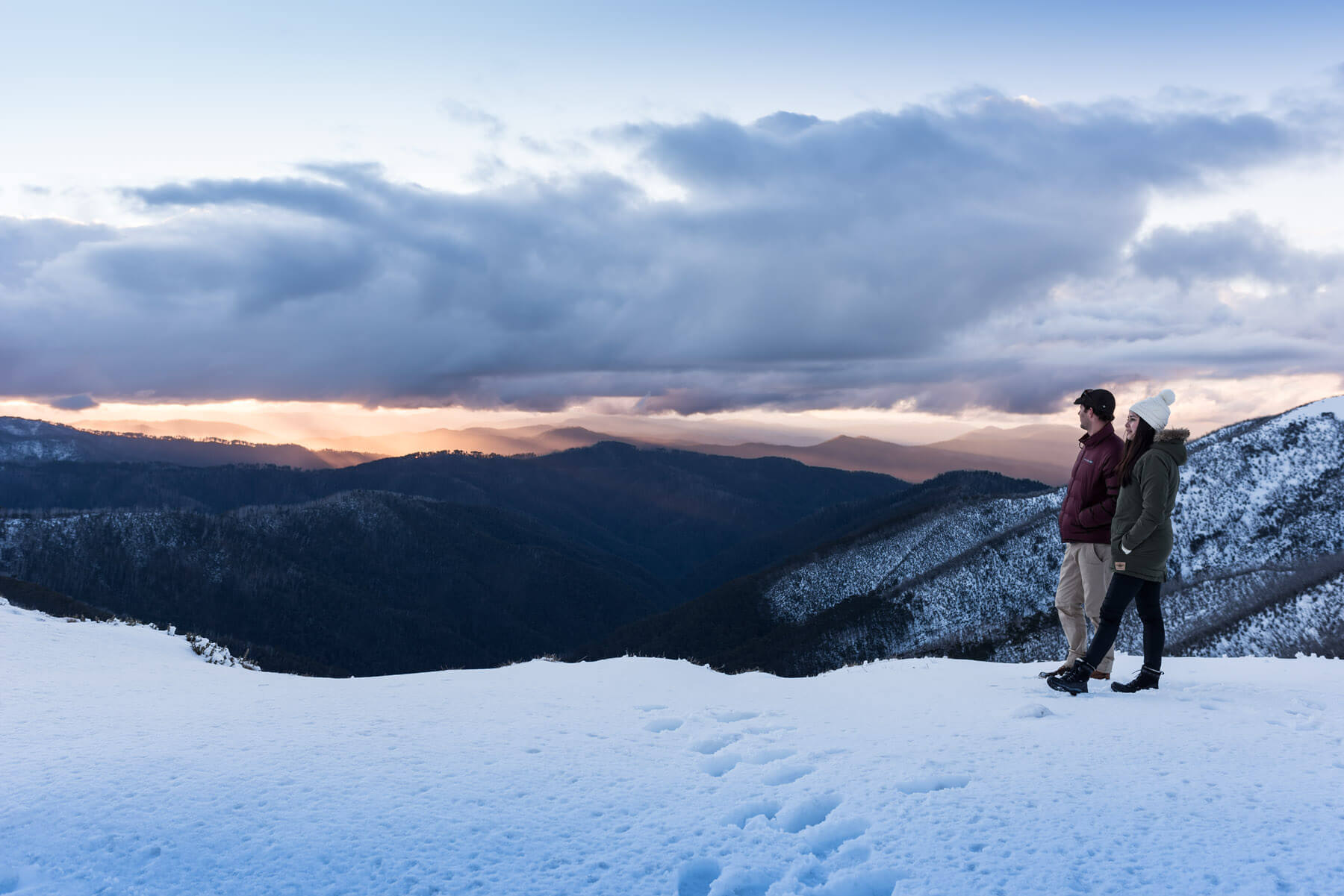Snowy views across Mt Hotham